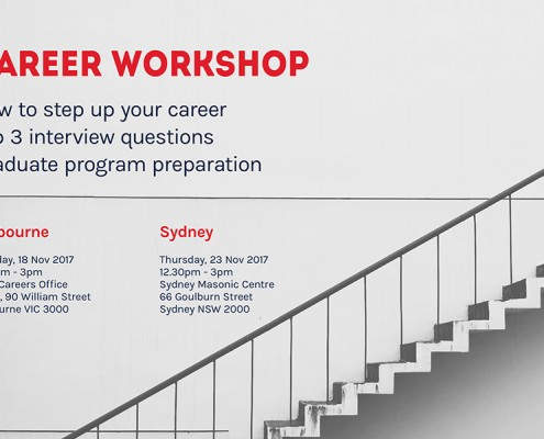 November 2017 Career Workshops - Melbourne & Sydney