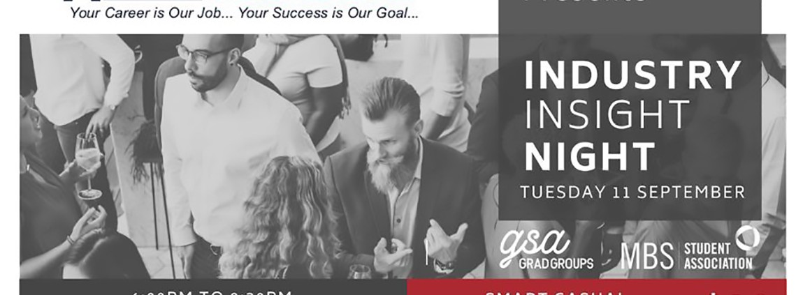 NotedCareers Sponsorship: MBS Student Association Industry Insight Night 2018